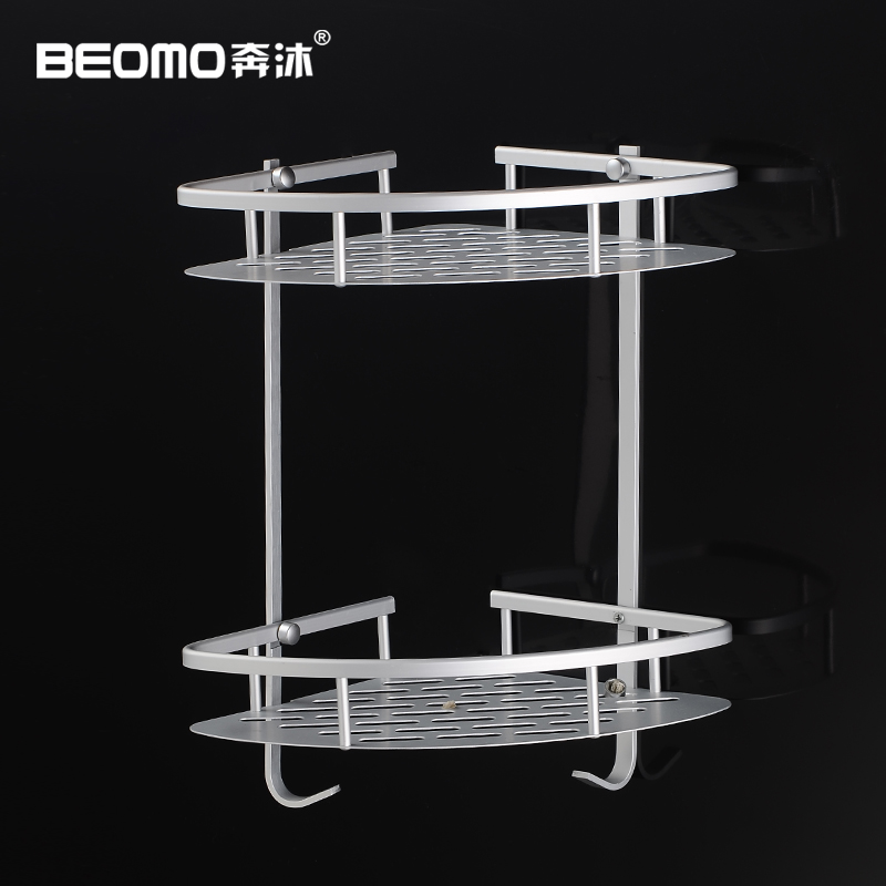 Double bathroom toilet bathroom shelf bathroom toilet angle bracket wall shelf triangle basket storage