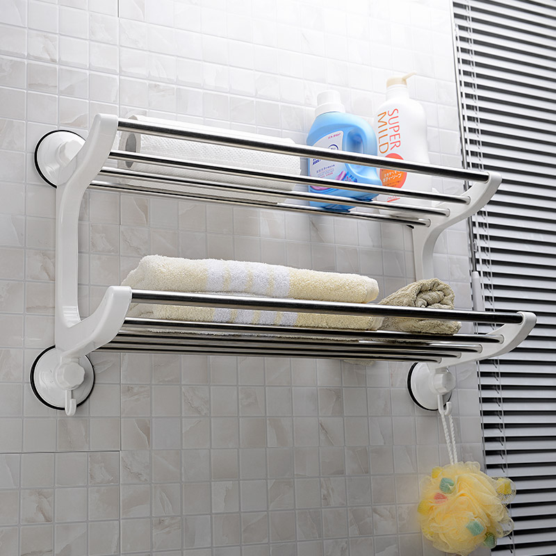 Double celebration bathroom kitchen and bathroom storage rack bathroom toilet toilet shelving racks bathroom towel rack hanging sucker
