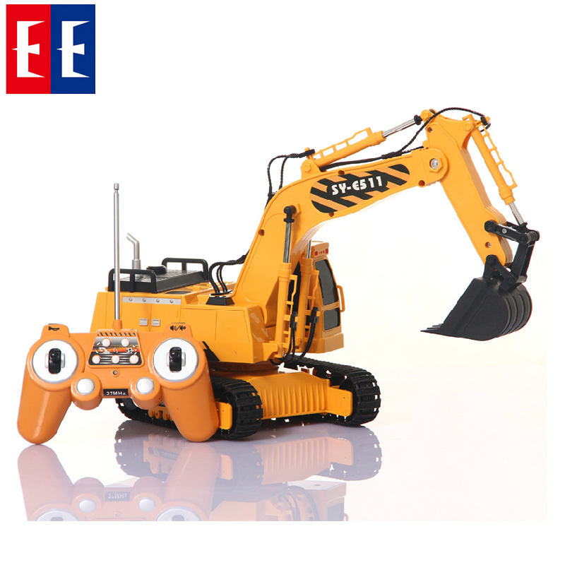 Double eagle wireless remote control excavator excavator children electric remote control truck excavator toy boy gift