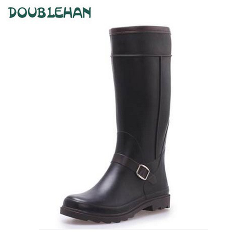 Doublehan rain boots ms. tall boots female korean fashion waterproof rubber boots shoes female spring and summer