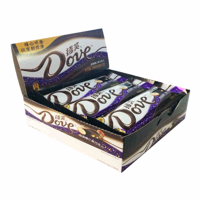 Dove chocolate hazelnut mellow dark chocolate 43g * 12 whole boxed 516g zero food shipping restricted area