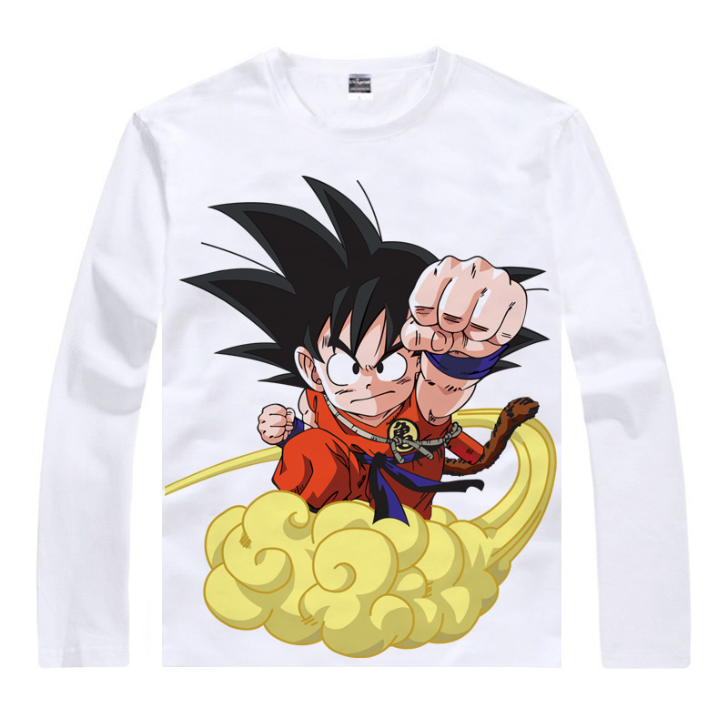 Dragon ball monkey bak turtle fairy animation around long sleeve t-shirt clothes clothing bottoming shirt male variety