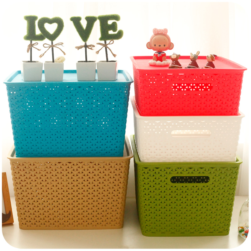 Drawer storage box fitted clothes storage box plastic baskets sorting box toys clothes king covered storage box of books