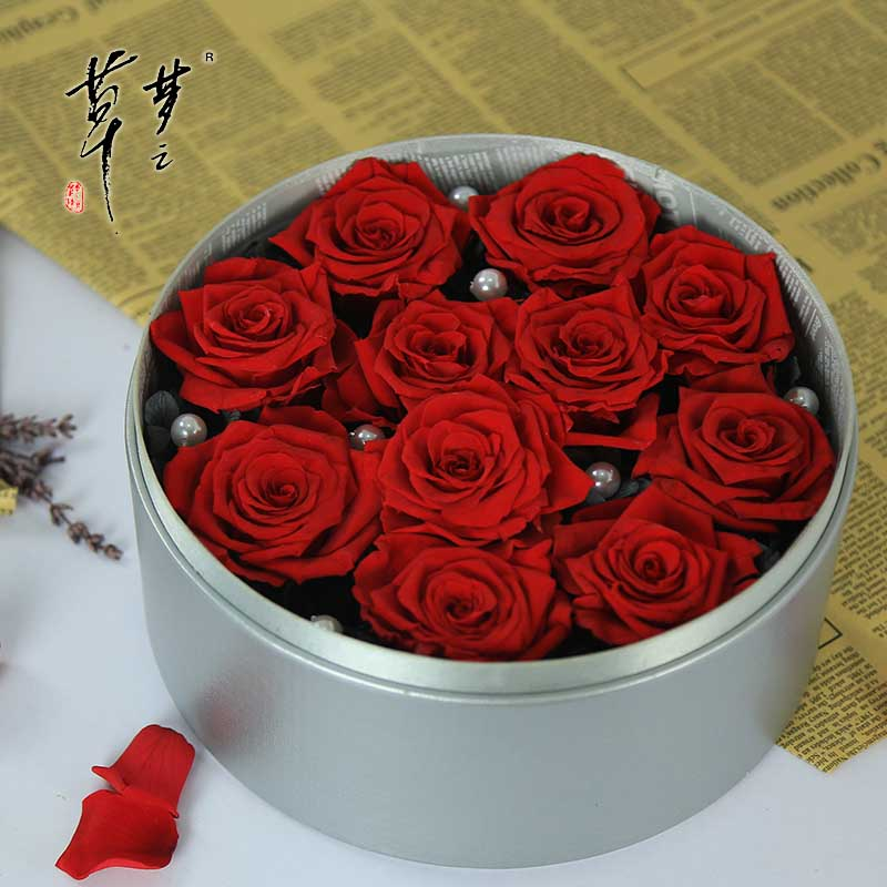 Dream grass immortalized flowerbox roses handmade gift boxes gift 520 valentine's day gifts girlfriends friend souvenir