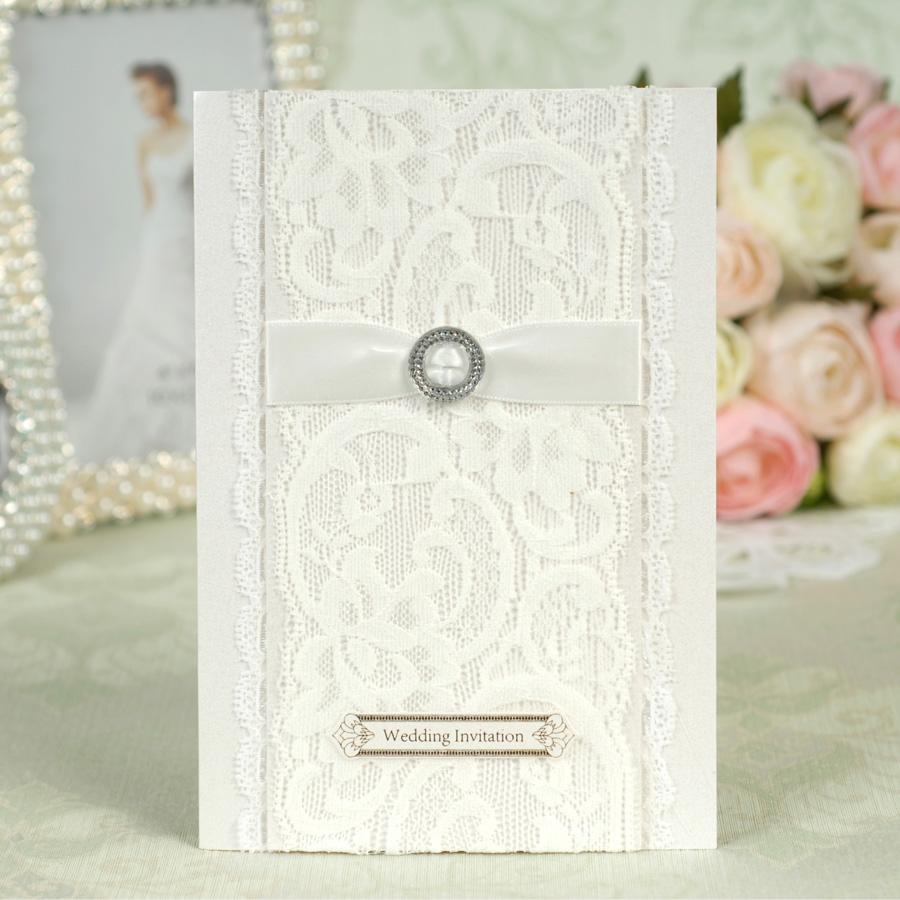 Dreamday european white lace wedding invitations wedding invitations wedding invitation section 41b