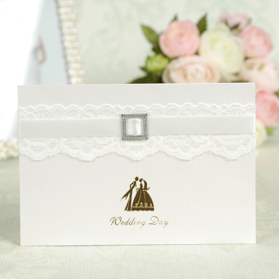 Dreamday european white lace wedding invitations wedding invitations wedding invitation section 42b