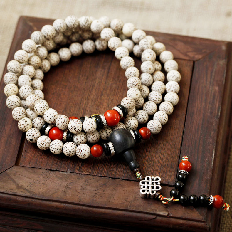 Dry grinding month high density along the white moon and stars bodhi lunar January 8mm 108 tibetan prayer beads bracelet male and female