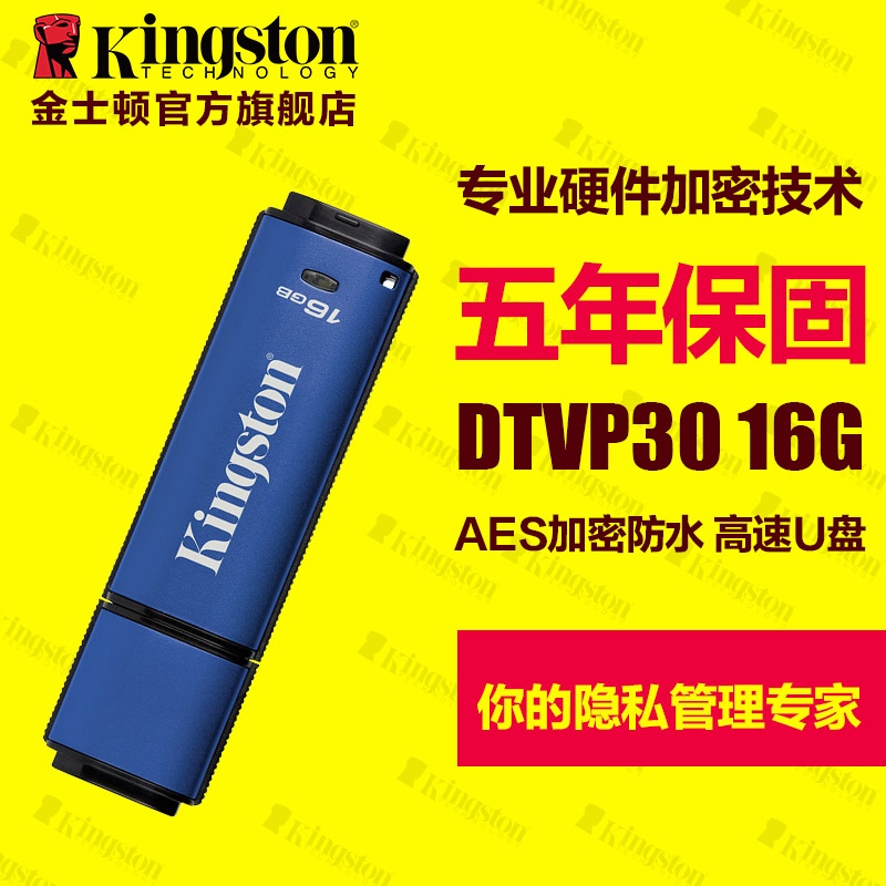 DTVP30 kingston usb 16gu disk usb3.0 high speed enterprise security u disk hardware encryption shipping