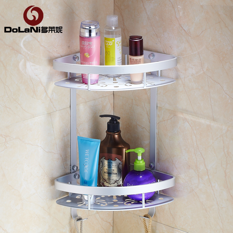 Duo laini bathroom shelf tripod bathroom toilet toilet toilet supplies storage rack wall
