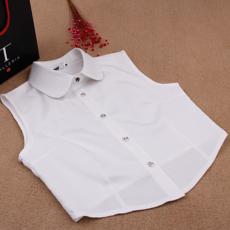 Duo of respect for hundreds of millions of ms. vest vest spring and autumn and winter wild fake collar shirt collar white shirt collar fake fake fake collar korean version of