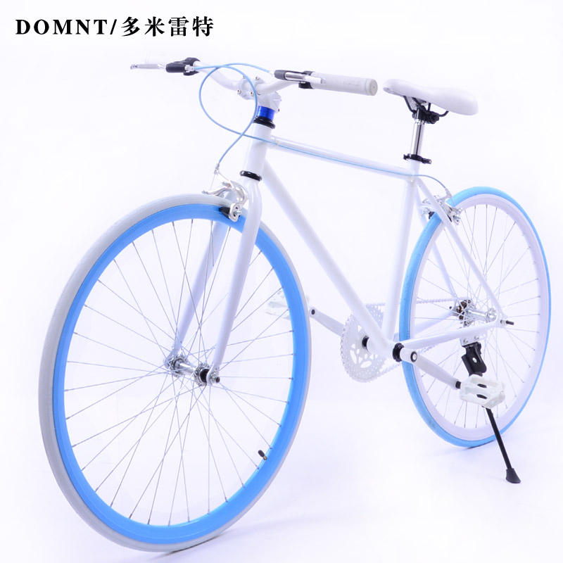 Duomileite dead fly single speed road bike fluorescent fashion v brake disc brakes students live fly free shipping amoy gold