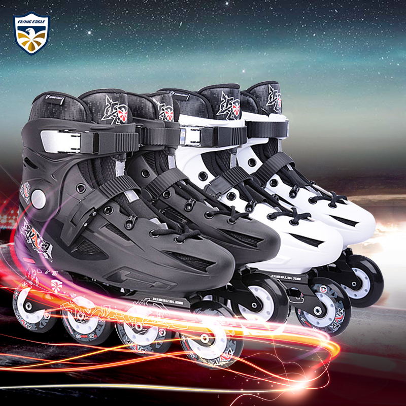 Eagle f2 inline skating skates adult men and women slalom skates roller shoes