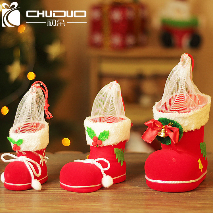 Early flowers christmas decorations christmas candy christmas tree ornaments christmas stockings boots candy bags gift bags for children
