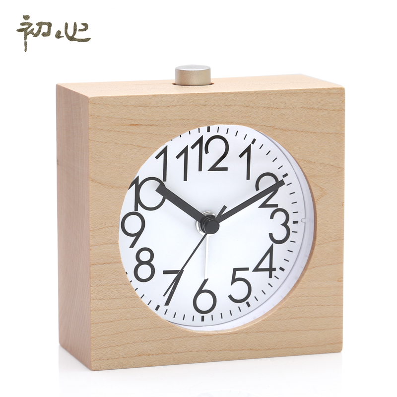 Early heart bedroom bedside small alarm clock luminous silent lazy snooze clock personalized fashion creative student children