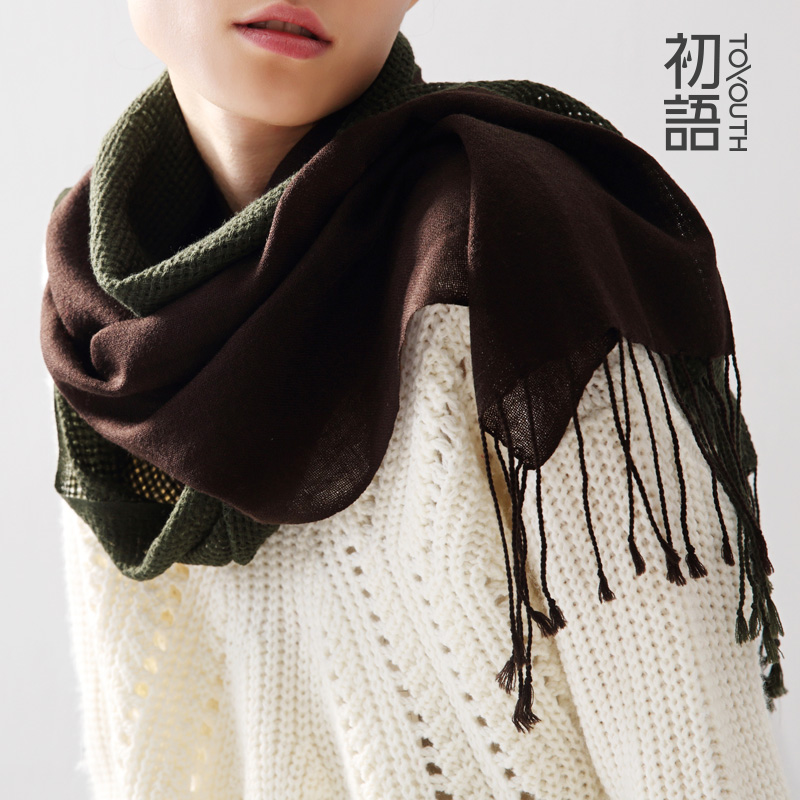 Early language winter wool scarves ms. wild collision color wool scarf knitted scarf autumn and winter scarf shawl long section