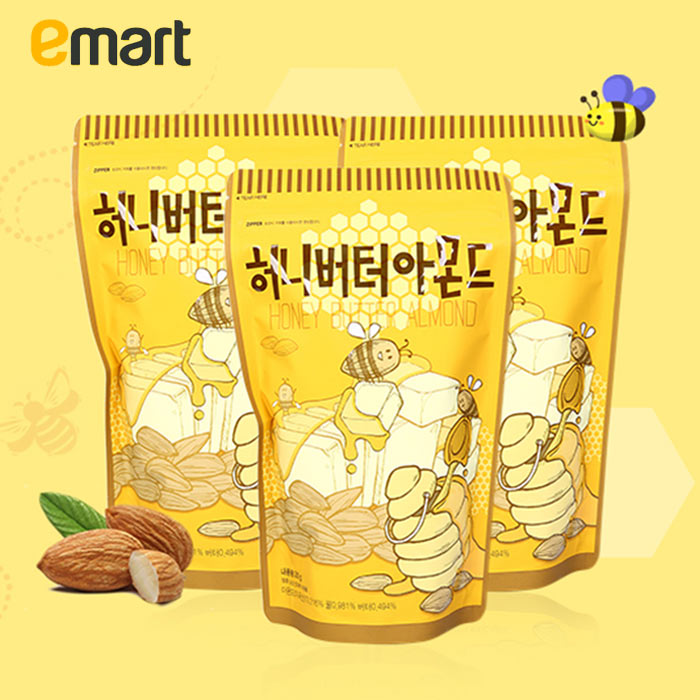 Easy to buy south korea emart tom farm honey almond butter 250g almond nuts nuts pecans 3 bags