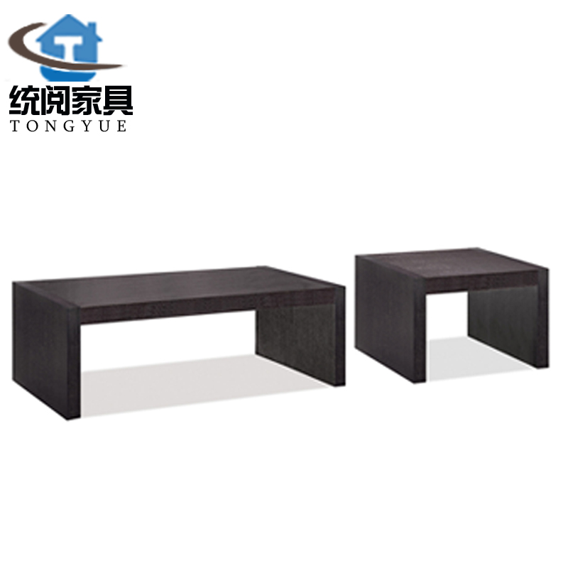 Ec read office furniture stylish black embossed coffee table business reception parlor coffee table coffee table coffee table
