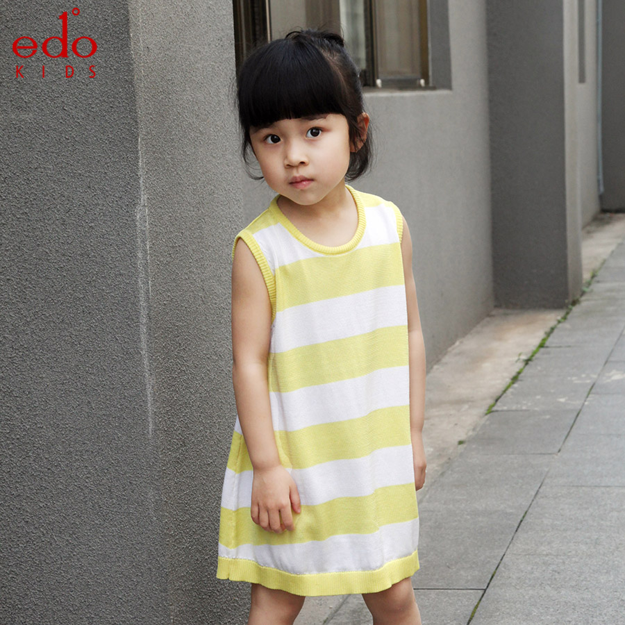 Edo1 childrenwear leisure years old sleeveless dress 2016 summer new girls small children in child child group