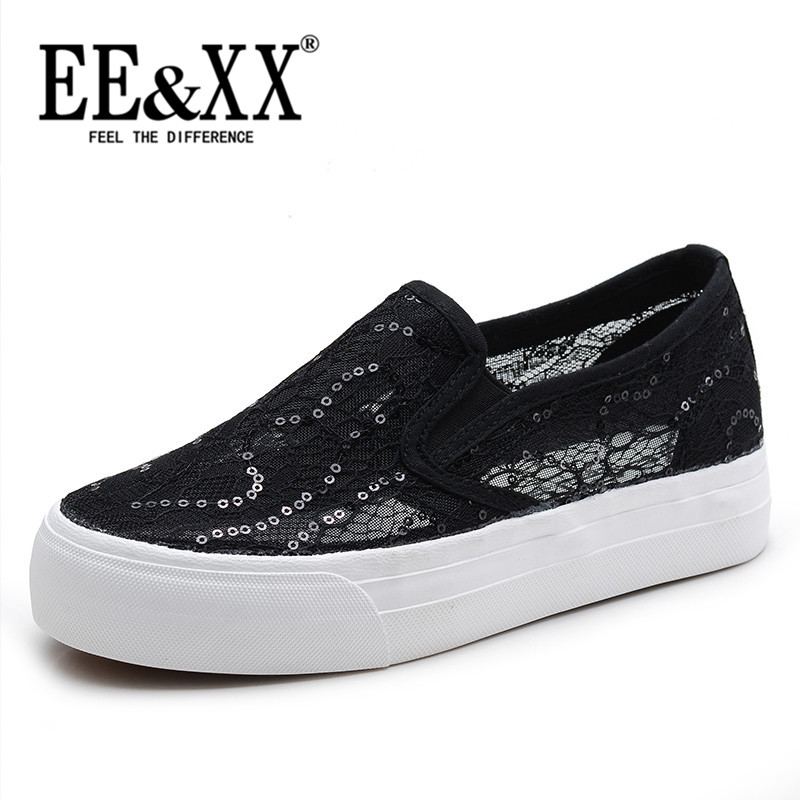 EEXX2016 korean flat shoes flat shoes new set of feet low to help casual shoes hollow breathable mesh shoes 6386
