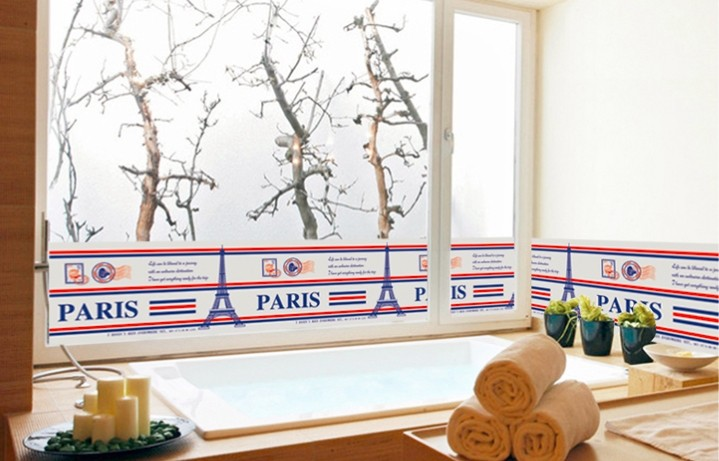 Eiffel tower wall stickers living room glass removable wall stickers foil stickers wall stickers environmental cartoon stickers wall stickers