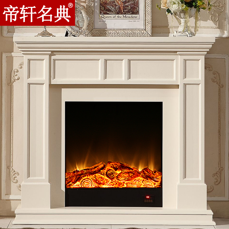 Emperor xuan code 1.2 m simple ivory white european american wood fireplace mantel cabinet decorative fireplace heating stoves