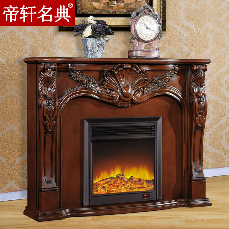 Emperor xuan code 1.5 miou american carved wood fireplace fireplace decoration cabinet package logistics