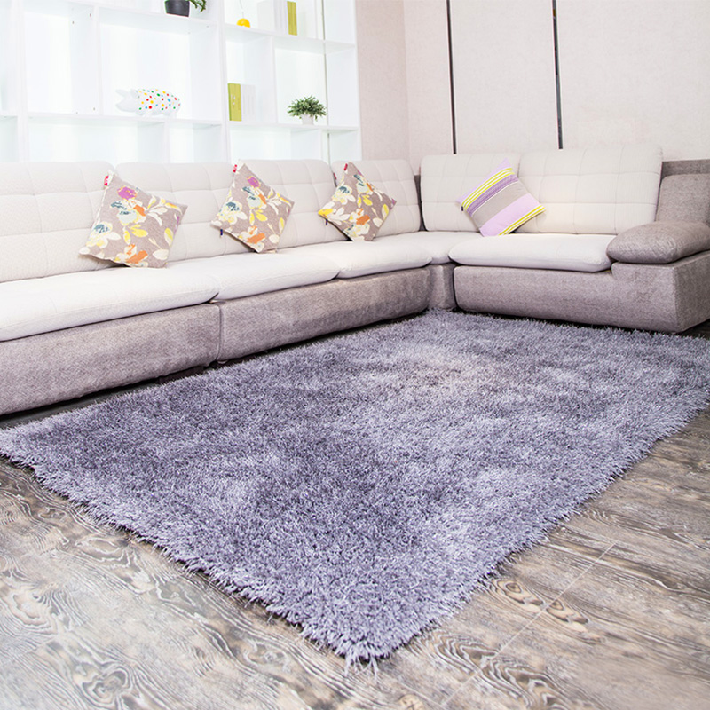 Encryption stretch silk carpet bedroom paved silky modern minimalist home living room coffee table rug pad carpet sofa