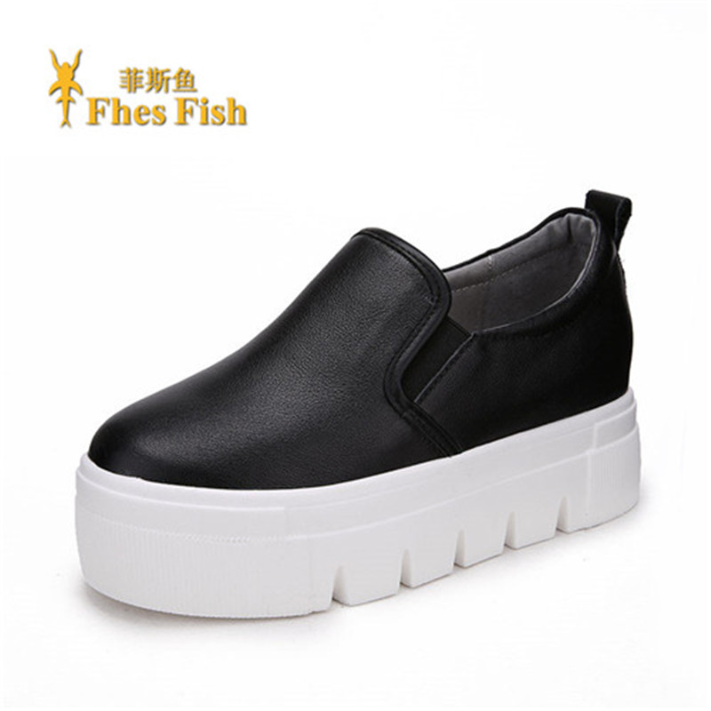 End custom brand fhesfish 2016 new spring and summer shoe foot leather loafers shoes solid