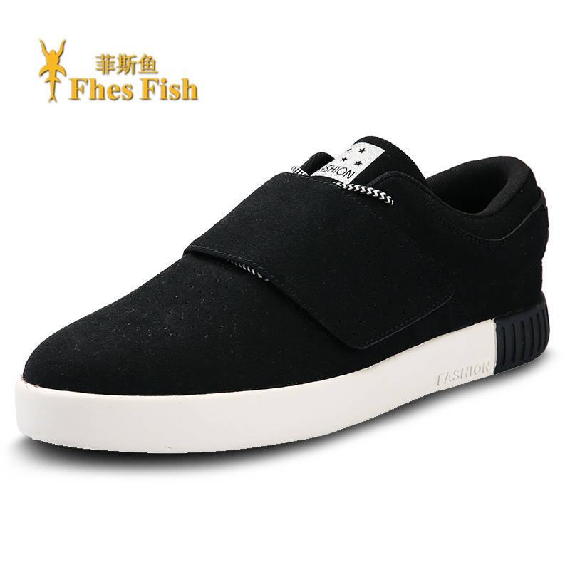 End custom brand fhesfish korean version of casual sports shoes lace round flat with solid color gauze