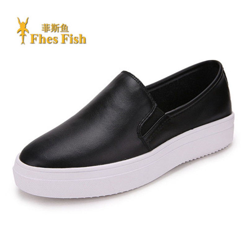 End custom brand fhesfish solid korean version of the new shoe foot lazy loafers shoes deep mouth round