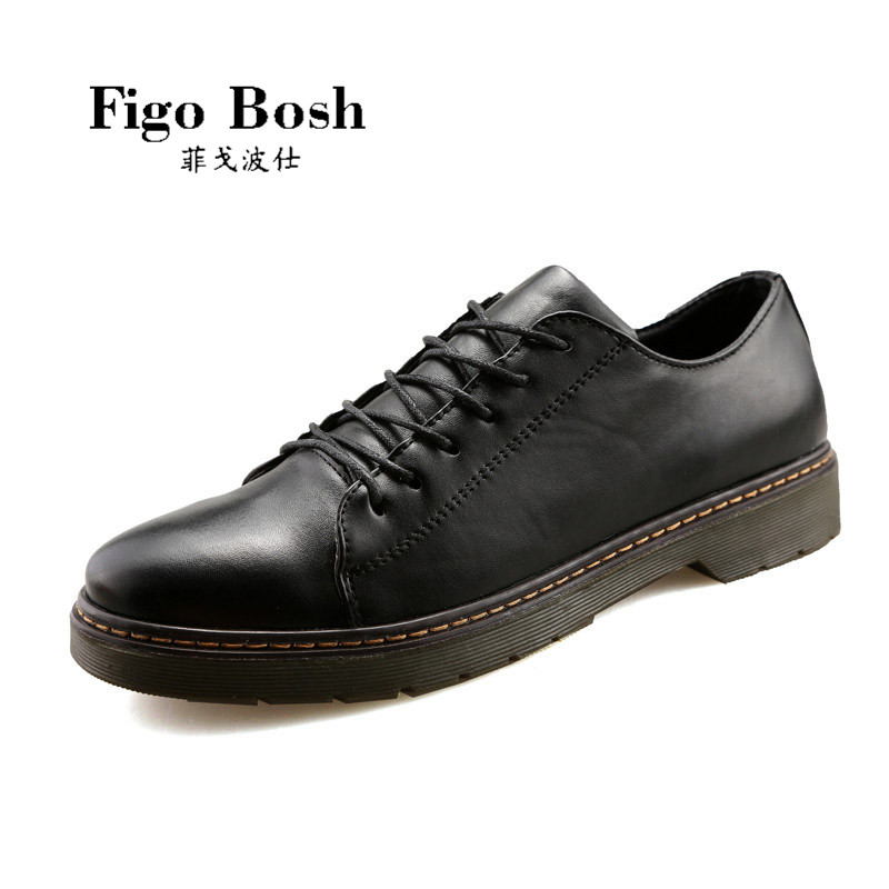 End custom brand figobosh 2016 autumn men's fashion wild british style lace casual shoes
