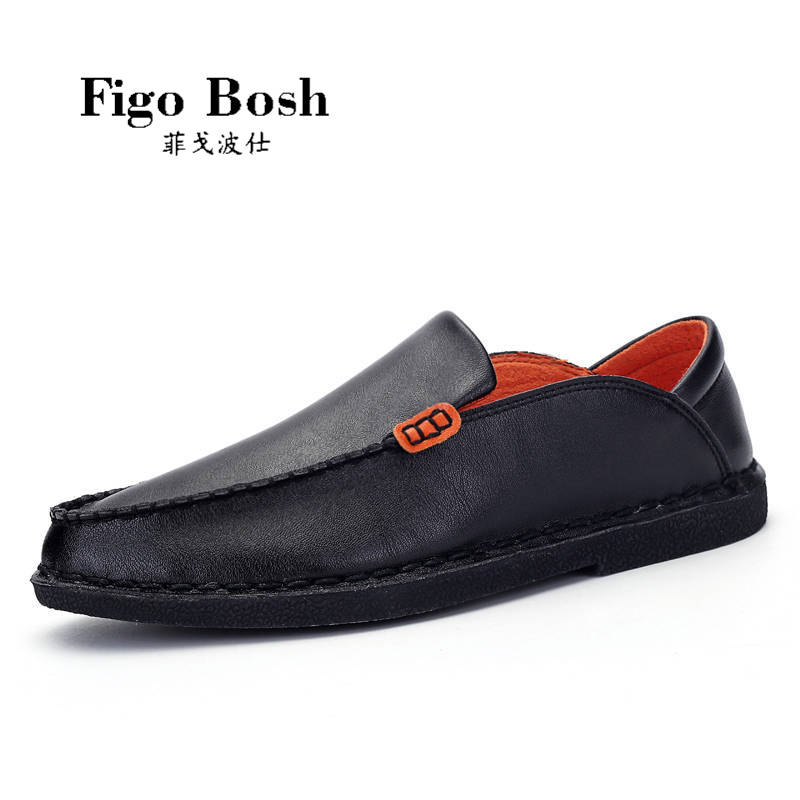 End custom brand figobosh 2016 autumn round set foot men's casual shoes british style shoes