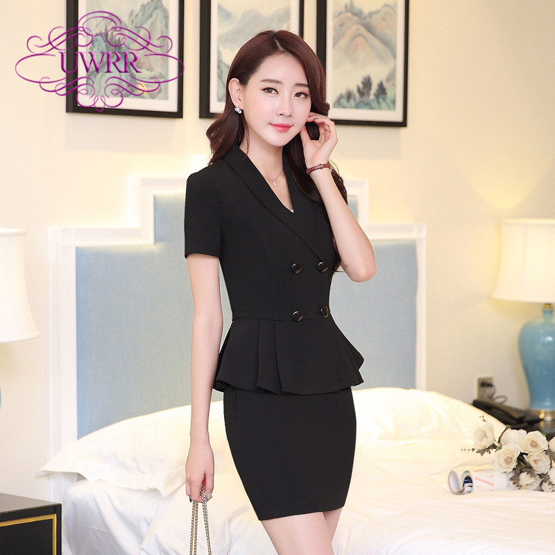 End custom brand uwrr 2016 spring and summer women's wear skirt suits slim suits overalls