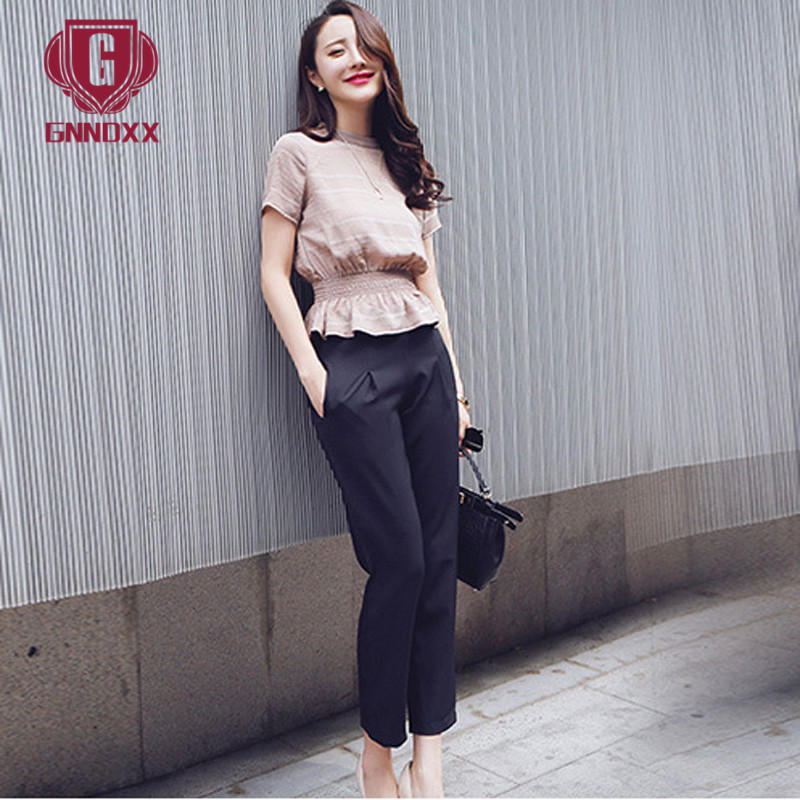 End custom gnndxx 2016 summer new slim short sleeve temperament was thin piece fashion women suit