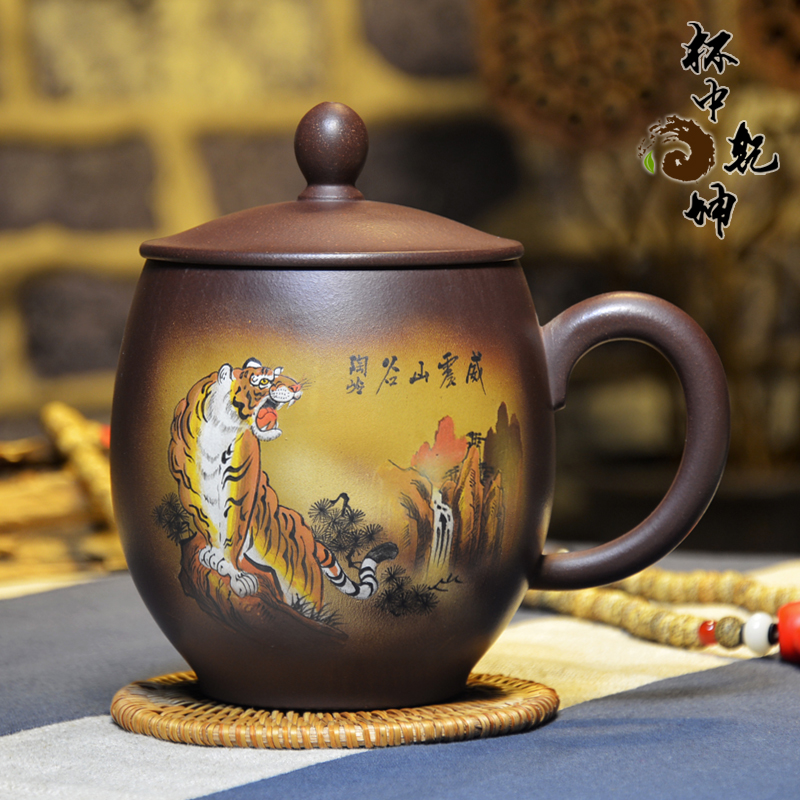 End! famous handmade yixing purple clay cup stacker master masterpiece painting megatron valley boutique collection level