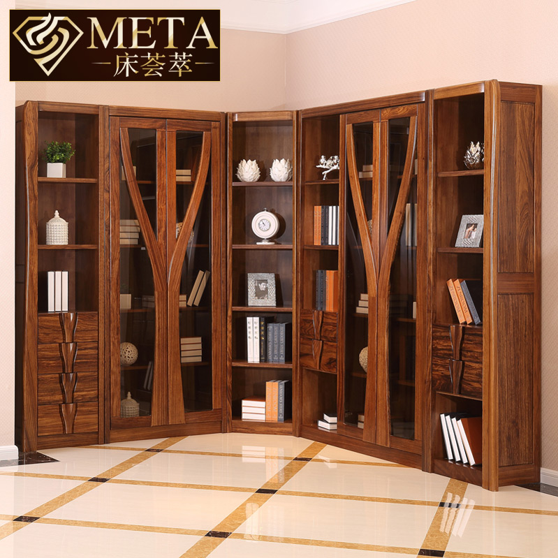 Get Quotations End Of All Solid Wood Bookcase Bed Meta Ugyen Lockers Modern Chinese Combination