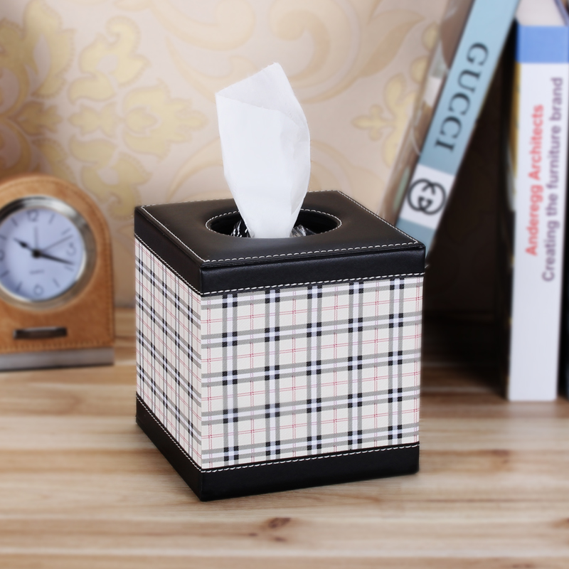 England grid wei maiqi creative paper towel tube tissue box facial tissue box rolls of household wood high european car paper