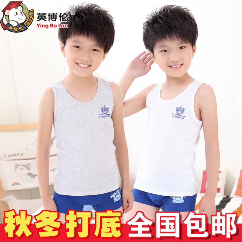 English boren boys small children in spring and summer children's clothing cotton vest cotton sleeveless vest bottoming shirt free shipping