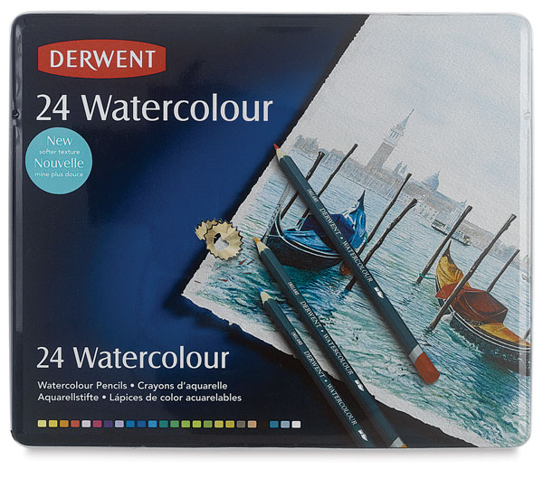 English derwent have rhyme expert soluble color of lead soluble colored pencils 24 color iron boxed shipping