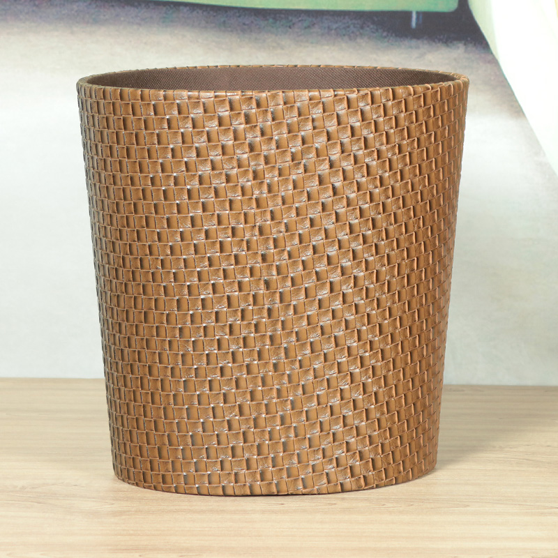 Enlightened department of upscale leather wastebasket trash barrels household laundry basket laundry basket of dirty clothes storage barrels fashion creative oval