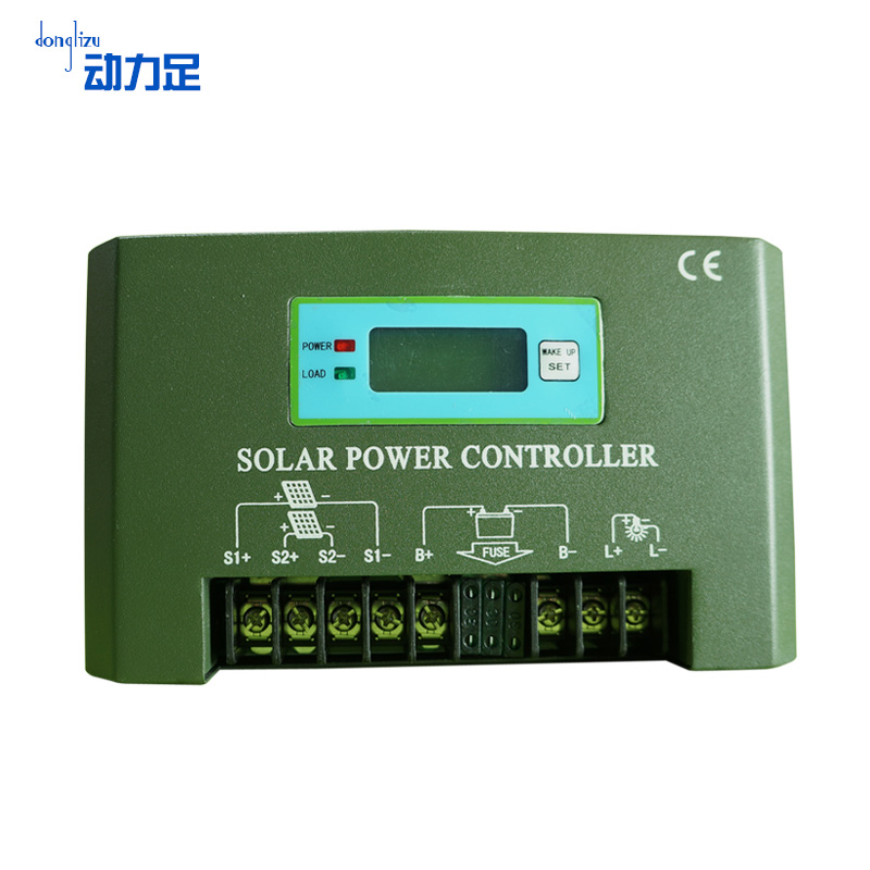 Enough power 12v60a solar controller street light controller street household metal shell lcd controller