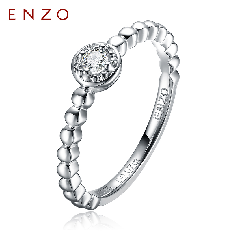 Enzo jewelry natural diamond engagement ring wedding ring female white k gold strip ring mm series models