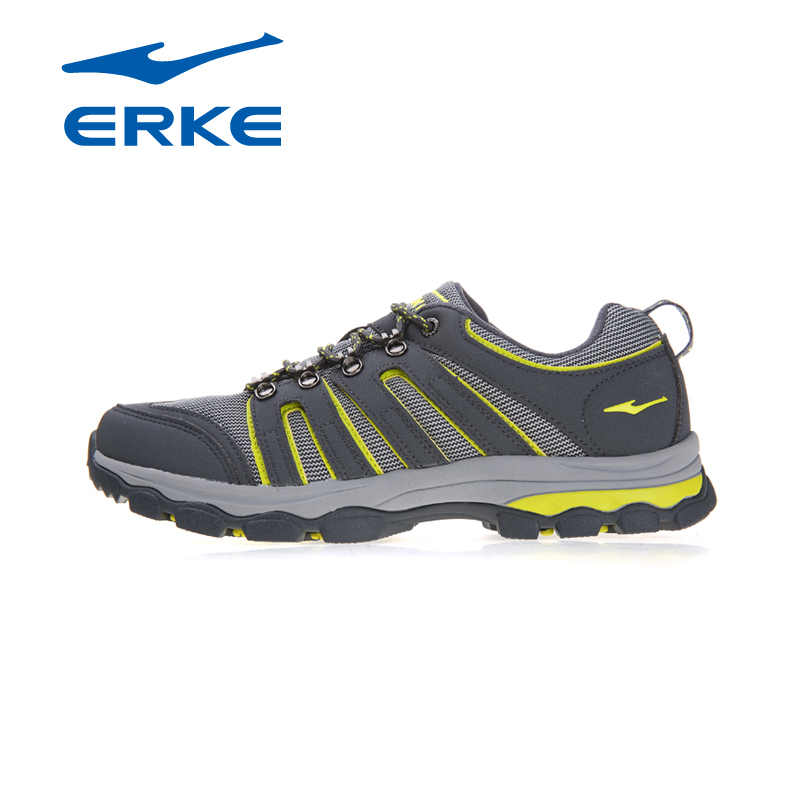 Erke authentic outdoor hiking shoes breathable support balance sports men slip resistant shoes hiking shoes zg