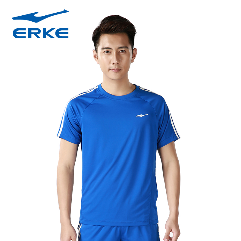 Erke new fall 2016 men and comprehensive training shirt football game football clothes suit training clothes short sleeve t-shirt