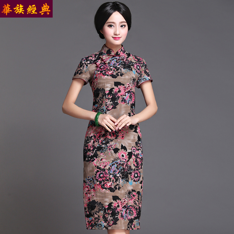 008738af4 Get Quotations · Ethnic chinese classic 2016 spring and summer costume  chinese cotton cheongsam dress ms. improved cheongsam