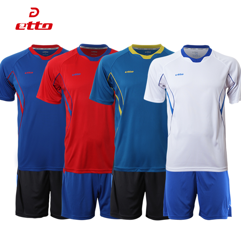 Etto english soccer clothes suit short sleeve wicking jersey number can be printed than light board training jersey race suits