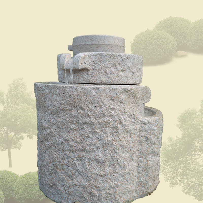 Euclidian trapezoidal stone fountain water fountain water fountain garden villa studio hotel relief sculpture crafts ornaments