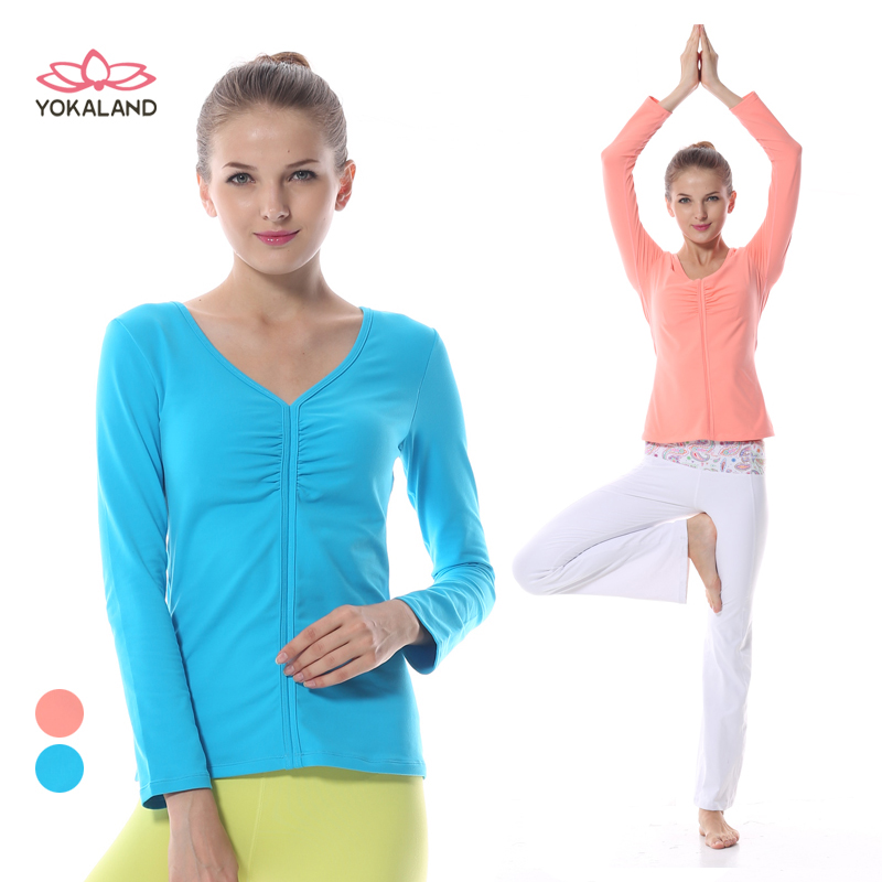 Eukanuba lotus yoga clothes coat genuine new winter long sleeve yoga clothes workout clothes dance clothes rtw003