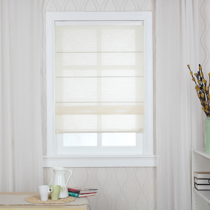 Europe hundred L7516 shutter half blackout curtains electric lift curtain roman blinds blackout shade folding screens curtain pulling the customization