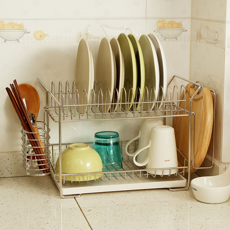 Europe yun chul bold stainless steel floor drain rack dish rack kitchen dishes dish rack storage rack dish rack to dry
